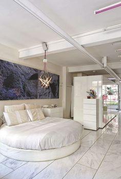 Lit rond design pour la chambre adulte moderne en 36 idées superbes ...
