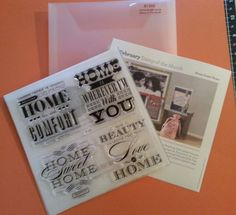 S1302 CTMH Home Sweet Home Stamp Set by BlushandPaper on Etsy, $8.00