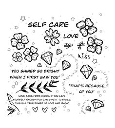 Self love goes from inside 💎❤️🌿 (drawing helps me concentrate on what really matters and fight my fears and anxiety) 🍀 p.s diamonds are my new favourite thing to draw ❤️💍❤️ Tattoo Images, Tattoo Photos, Love Kiss, All Tattoos, Angel Tattoo Men, Lower Back Tattoos, Big Tattoo, Arm Band Tattoo, Picture Tattoos