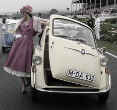 A late-1950s BMW 600 microcar (with all of 585cc and 20bhp).