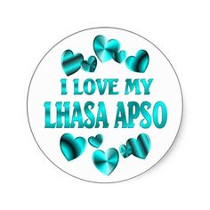 LHASA APSO Love Round Sticker