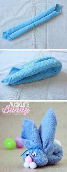 Washcloth Bunny or Boo Boo Bunny Tutorial