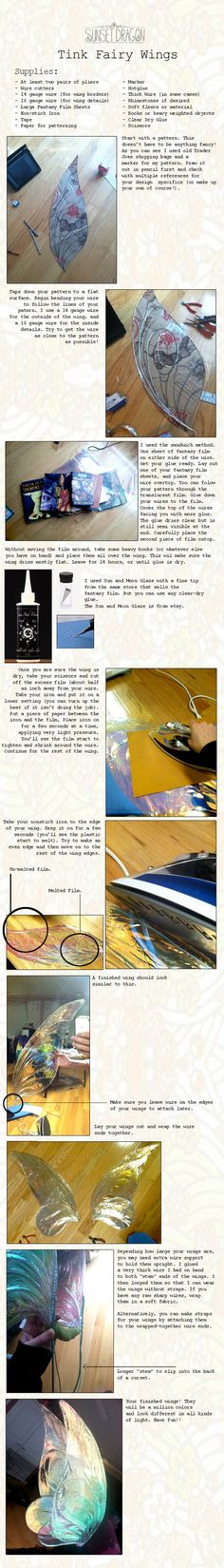 Fantasy Film Wing Tutorial by ~Flying-Fox on deviantART | THIS IS FREAKING AMAZING. I MUST MAKE THESE