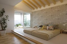 木のぬくもり感じる主寝室 Modern Bedroom Design, Home Room Design, Master Bedroom Design, Home Decor Bedroom, Home Interior Design, Japanese Bedroom, Japanese Home Decor, Apartment Interior, Apartment Design