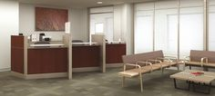 Outpatient Reception Area. Sistema diseñado para transitar dentro de un mundo complejo! #MoberTeAyuda