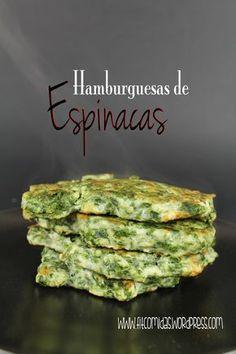 Hamburguesas de espinacas, receta Fit