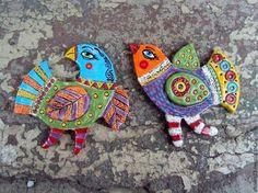 """Броши ручной работы. Заказать Керамические Броши """"Птицы"""". """"Цветные сны""""   Ирины Паньковской. Ярмарка Мастеров. Сова, брошь Turtle, Birds, Shapes, Diy, Animals, Design, Turtles, Animales, Bricolage"""