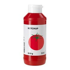KETCHUP tomato ketchup Net weight: 17.6 oz Net weight: 500 g.  Like, people go to Ikea to buy ketchup?