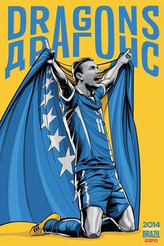 Posters da Copa do Mundo Brasil 2014 – por ESPN e CrisVector