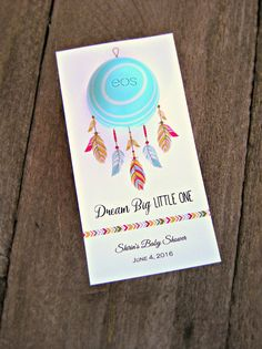 Dreamcatcher Baby Shower Favor Tags Baby by MailmansDaughter