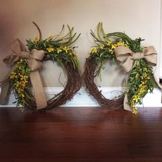 Wreaths for double doors