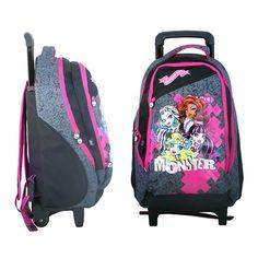 Sac à dos Monster High à roulettes de Monster High, Sac à dos 2 compartiments…
