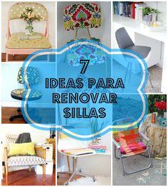 Tienes viejas sillas en casa? Con estas 7 ideas para renovarlas no podrás resistirte a hacerlo tú misma! Office Organization, Dining Room Table, Kitchen Storage, Ideas Para, Projects, Handmade, Diy, Facades, Pallet