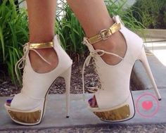 shoes high heels fashion classy white gold heels, pumps, red, shoes, high heels,