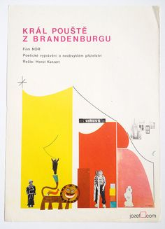 Vintage movie poster - Der Wustenkonig von Brandenburg by Ever A. Púček, made in Czechoslovakia 1974