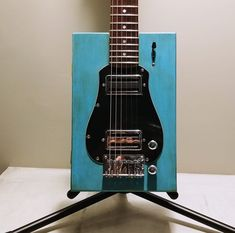Cigar box concept and style, but in a boutique build with double humbuckers and a super fast coumpound radius neck, Baxter has a modern classic built Electric Guitar And Amp, Guitar Amp, Canadian Maple, Modern Classic, Cigars, Concept, Pine, Boutique, Box