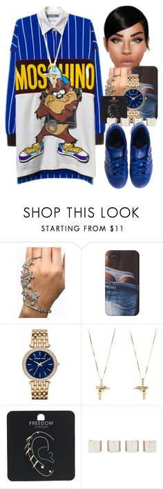 """Omg"" by thaofficialtrillqueen ❤ liked on Polyvore featuring NYX, Michael Kors, UZI, Topshop, Luv Aj and adidas"