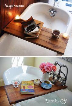 Bathtub caddy inspiration