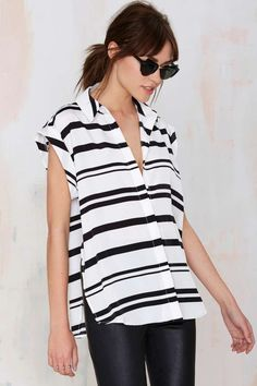 Black / White Stripe Shirt