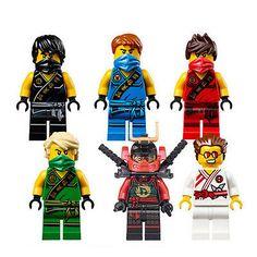 6x New Ninjago Jay Kai Lloyd Nya Overlord Zane Sensei Wu Cole Mini Figures Toy