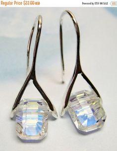 SALE Crystal Pendulum Earrings  Swarovski by MyGemstoneDesigns