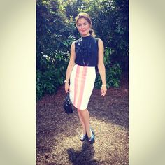 Boodles' Cornelia Huebener at the Boodles Tennis in Stoke Park, wearing our Leonie top and Celine skirt