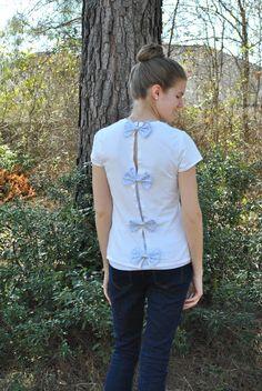 The Preppy Little Polka Dot: DIY Bow-Backed Shirt