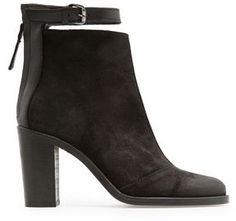Coating leather ankle boots / (ショップスタイル): MANGO TOUCH  コーティングレザーのアンクルブーツ