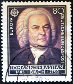 johann Sebastian Bach stempel circa 1895 Deutschland