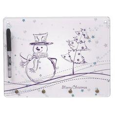 purple snowman dry erase whiteboards