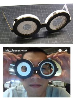 Papercraft Mechanical Iris glasses - Instructable at the link