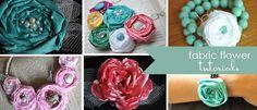 more fabric rosette fun - bracelets and headbands | Little Birdie Secrets !!!!! idei de trandafirasi