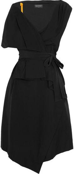 Gathered Stretchcotton Poplin Wrap Dress