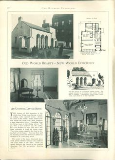old world beauty...100 bungalows of frame and masonry construction. (1927)