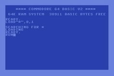 Commodore 64 computer. Load *, 8, 1