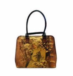 Ručne maľovaná kabelka 8573 inšpirovaná motívom Alfons Mucha