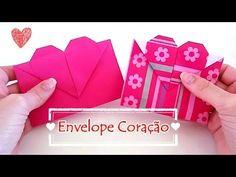 Origami Envelope Coração - [presente / lembrancinhas / convites]