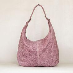 Damen-Handtasche-Leder-Italy-Rosa-Orange-Lederhandtaschen-Damenhandtasche-Lady