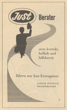 Just Berater - Old Adverts