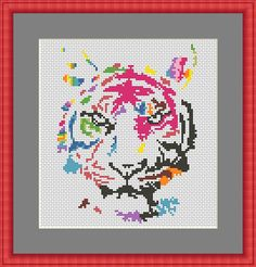 Tiger Cross stitch Pattern PDF