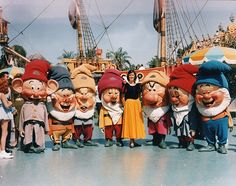 Snow White & the Seven Dwarfs at Disneyland, 1963 by Miehana, via Flickr