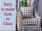 DIY upholstered dollhouse furniture