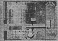 1929. Проект рабочего клуба. Генеральный план. И. Ф. Милинис.
