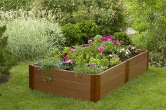 "http://diy-gardensupplies.com/ The Frame It All Raised Garden Bed is an easy to install raised garden system which allows you to maximizes the use of space in even the most modestly sized garden. These 18"" deep raised flower bed provides added soil depth for growing more bountiful and healthy flowers, vegetable, herbs or any other plant you'd like to plant. Raised beds also help lock in moisture providing better growing conditions for your plants."