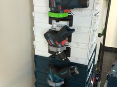 These are very useful Drill and other accessories holders designed to be attached to the Bosch Tool Boxes, Enjoy Peeps :)