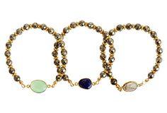 Pyrite Triple Bezel Bracelets on OneKingsLane.com