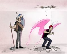 Don't land on the roof by maskman626 on DeviantArt