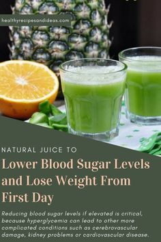 Natural Juice to Lower Blood Sugar Levels and Lose Weight From First Day