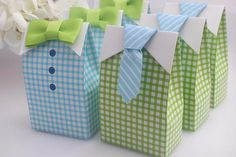 Haperlare 50 pcs My Little Man Candy Favor Boxes Boy Baby Shower Party Favor Boxes with Blue Green Bow Tie Ribbon Paper Candy Bags for Blue Green Gingham Party Decorations Supplies Baby Shower Gift Bags, Baby Shower Candy, Baby Shower Party Favors, Baby Shower Parties, Baby Boy Shower, Baptism Party, Bridal Shower, Blue Birthday Parties, Boy Birthday