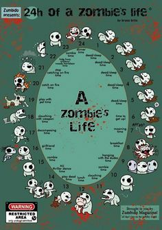 24 hr of a Zombie's life'